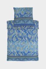 Parures et housses de couette bleus en satin de coton pour Taie d'oreiller