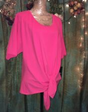 """""""Calessa"""" Hot Pink Top In Woman's Plus 3X, NWT"""