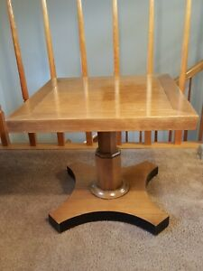 """Two Baker Furniture Square Lamp Tables 16""""H x 18""""W"""