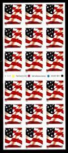 1¢ WONDER'S ~ UNFOLDED MINT STAMP BOOKLET PANE W/ 37¢ FLAG (FV = $6.66) ~ T407