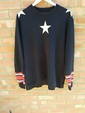 Givenchy Mens Star Print Striped Cotton Sweatshirt - Oversized XS RRP: £460