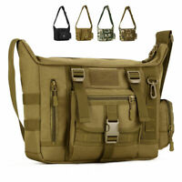 Multifunction Mens Outdoor Tactical Shoulder Laptop Messenger Bag Briefcase