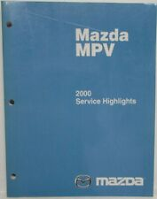 Service Repair Manuals For Mazda Mpv For Sale Ebay