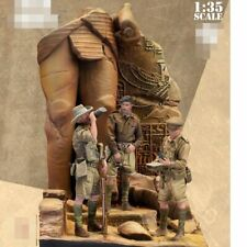 1:35 British Army Soldiers, WWII DESERT RATS, Resin Model Kit ,3 Figures & Base