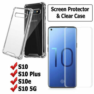 Case & Screen Protector for SAMSUNG Galaxy S10 S10e S10+ Plus 5G TPU Hydrogel