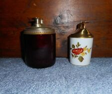 2 pc Lot Table Lighters Richard Ginori Italy & Ronson Ruby Red Glass