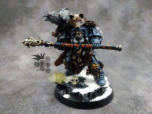Warhammer 40k Space Wolves Njal Stormcaller M1 painted