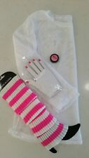 80's 4 Piece SET - Shimmer eye shadow / Gloves / Top / Leg Warmers
