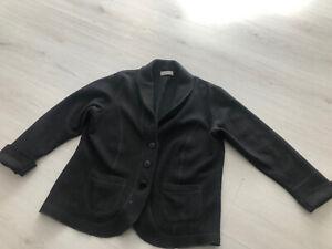Marks & Spencer Black Textured Wool Blend Cardi / Jacket - 16 Modernist