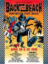 18 Back To The Beach Huntington Beach 311 Sublime Concert Poster #/20 4/28 29S/N