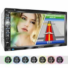 Autoradio mit Navi Gps Dvd Cd Usb Sd Bluetooth 6,95 Zoll Kapacitivem Touchscreen
