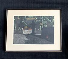"Kiyoshi Saito signed woodblock print ""Nikko Gate"" ~ 1969 ~ Mid Century Modern"