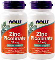 Now Foods - Zinc Picolinate, 50 mg, 120 Capsules - 2 Packs