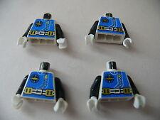 Lego 4 torses set 1728 1806 1822 6125  / 4 minifig torso from aquazone