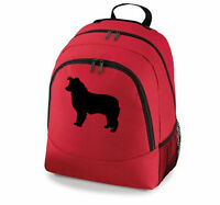 Collie Dog Backpack - Border, Bearded, Rough Collie & Sheltie Black Grey Red