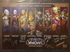 BlizzCon 2018 Blizzard World of Warcraft Voices of War Horde vs. Alliance Signed