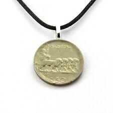 Collier pièce de monnaie Italie 50 centesimi Victor-Emmanuel III