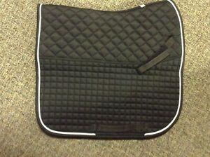 Passport by Toklat Double Back Dressage Saddle Pad- Black