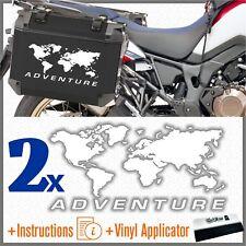2x Adesivi Planisfero ADV Bianco BMW Motorrad KTM HONDA SUZUKI KAWASAKI YAMAHA