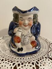 Antique Staffordshire Toby Mug Hand Painted ❤️Beautiful Detail!