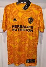 ADIDAS MLS LA Galaxy Orange 2019 KCC Pre Match Soccer Top Jersey NEW Mens S