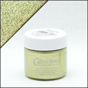 Angelus Glitterlites Limelite Lederfarbe 29,5ml (23,56€/100ml) Glitzer Farbe