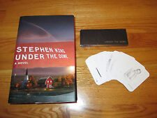 """Horror Author STEPHEN KING """"UNDER THE DOME"""" 2009 Book w/ Limited Edition Cards"""