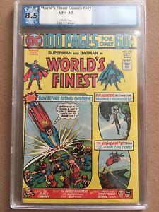 WORLD'S FINEST COMICS #225 GRADED 8.5 SUPERMAN BATMAN DC COMICS 1974