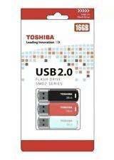 Toshiba USB 16 GB 2.0 Flash Drive SM02 Series - Triple Pack BRAND NEW FREE SHIP
