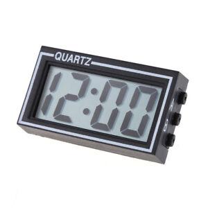 Mini Digital LCD Auto Car Truck Dashboard Date Time Calendar Clock Black