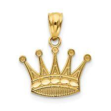 14K Crown Pendant New Charm Yellow Gold