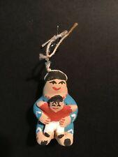 Jemez Native American Storyteller Christmas Holiday Clay Pottery Ornament