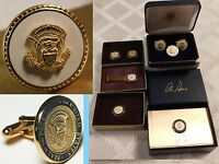 6 Al gore VIP gifts ULTRA RARE White Cobalt V Presidential Cufflinks and pin