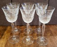 "* Set of 6 * Mikasa Crystal CHATSWORTH 7-7/8"" Wine Glasses Goblets Goblet"
