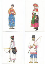 POSTCARD RUSSIA , RUSSIE , 1 LOT DE 24 CARTES DE COSTUMES ET TYPES RUSSES