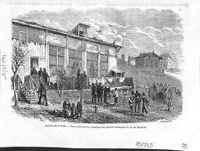 Guerre 1870 Siège Paris Colombier Pigeon Messager rue Magenta 1871 ILLUSTRATION