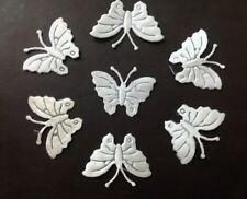 50 White Butterfly Motifs 4 DIY Card Crafts Sewing and Embroidery
