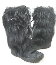PAJAR WOMEN'S SCARLET TASSLE TIE GOAT HAIR BOOT BLACK EUR 38/ US SZ 7-7.5 MEDIUM