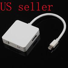 Thunderbolt Mini DisplayPort to HDMI +DVI +Display Port Adapter For Mac Mini Pro