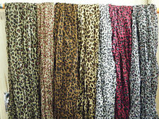 LARGE SOFT LADIES ANIMAL LEOPARD PRINT SCARF SHAWL WRAP SARONG UKSELLER FREE P&P