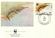 (20565) Congo FDC Crocodile WWF 22 January 1987