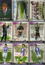 27 fichas del Valladolid Mundicromo Fichas de la liga 2008-2009