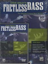Steve Bailey's Fretless Bass TAB Music Book/DVD Ultimate Bass Guitar Workout