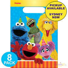 SESAME STREET PARTY SUPPLIES 8 LOOT BAGS BIRTHDAY FAVOURS LOLLY TREAT SACKS