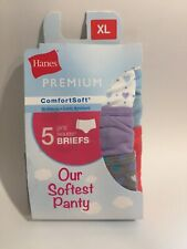 Hanes Girls Premium ComfortSoft Tagless Briefs Panties ~5 Pack ~ XL