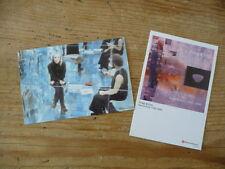 Brian Eno & Robert Fripp: (2) Japan Promo Postcard (no cd japan mini-lp Q