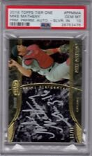 2016 Mike Matheny Topps Tier One Prime Performers Silver Ink Auto Graded PSA 10