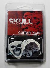 """SKULLS"" Guitar Pick Pack, 6 Picks .71mm Clamshell, pics, plectrums"