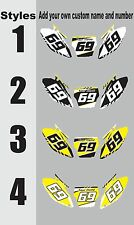 Number plate graphic for 2001-2002 Suzuki RM125 250 RM 125 250 Side Panels Decal