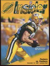Program Football Green Bay Packers 1999 Carolina Panters Brett Favre Streak